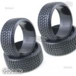 4 Pcs 1/10 RC On Road Drift Car HPI Drift Tyre 26mm Hard Rubber Plastic PY0026X4