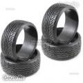 4 Pcs 1/10 RC On Road Drift Car HPI Drift Tyre 26mm Hard Rubber Plastic PY0027X4