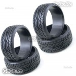 4 Pcs 1/10 RC On Road Drift Car Tyre 26mm Hard Rubber Plastic Tires PY0028X4