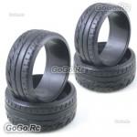 4 Pcs 1/10 RC On Road Drift Car Tyre 26mm Hard Rubber Plastic Tires PY0029X4