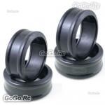 4 Pcs 1/10 RC On Road Drift Car Tyre 26mm Hard Rubber Plastic Tires PY0031X4