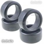4 Pcs 1/10 RC On Road Drift Car Tyre 26mm Hard Rubber Plastic Tires PY0037X4