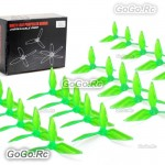 10 Pairs Kingkong 5051 3-Blade Clear Single Color Green Tri-Props Propellers FPV