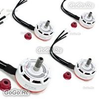 4 Pcs EMAX RS2306 2400KV White Editions RaceSpec Brushless Motor for FPV Drone