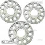 3 Pcs Grey Color Main Drive Gear for Trex 550E 600 RC Helicopter