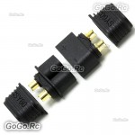 1 Pair Male / Female XT60 Upgrade Bullet Connector Plug For Lipo Battery Black