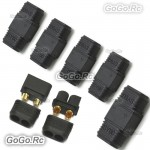 5 Pair Male / Female XT60 Upgrade Bullet Connector Plug For Lipo Battery Black