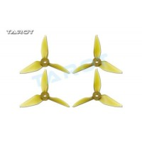 Tarot 3031 3 inch Tri-Blade Yellow Propellers 2xCW CCW RaceKraft Style - TL3E2-A