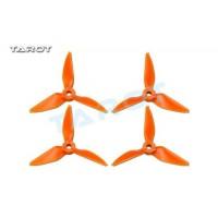 Tarot 3031 3 inch Tri-Blade Orange Propellers 2xCW 2xCCW RaceKraft Style TL3E2-D