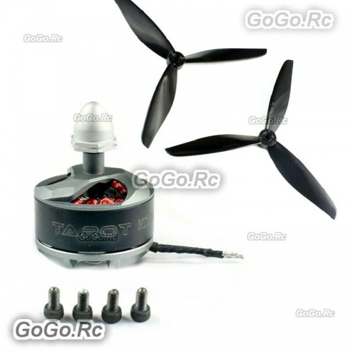 Tarot MT2208III 2100KV Silver Brushless CW Motor With 7 inch Blades - TL400H10