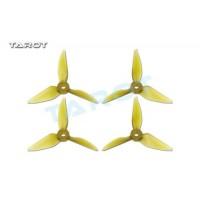 Tarot 4041 4 inch Tri-Blade Yellow Propeller 2xCW 2xCCW RaceKraft Style TL4E2-A