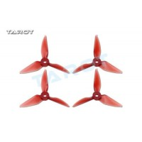 Tarot 4041 4 inch Tri-Blade Red Propellers 2xCW 2xCCW RaceKraft Style - TL4E2-F