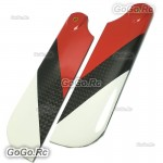 Tarot Carbon Tail blades Red For Trex T-rex 700 RC Helicopter