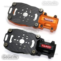 2 Pcs Tarot 25mm Lengthened Motor Mount for Multi Drone Orange & Black TL96038-9
