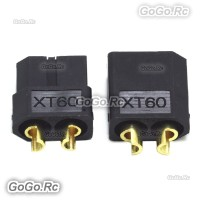 1 Pair XT60 Bullet Connectors Plugs Male & Female For RC LiPo Battery Black