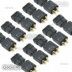 10 Pairs XT60 Bullet Connectors Plugs Male & Female For RC LiPo Battery Black