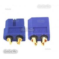 XT60 Bullet Connectors Plugs Male & Female For RC LiPo Battery - Blue (XT60BU)