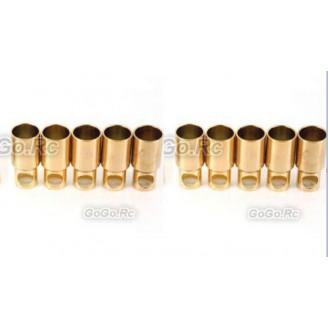 10 Pcs 6 mm Female Gold Bullet Connector for Battery Motor Esc For RC