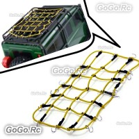 Elastic Luggage Net W/Hook for 1/10 SCX10 D90 TRX4 RC Truck Roof Rack Crawler YY