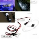 2 Pcs Leds Light Headlight With Optical Fiber For RC Model Car Truck HSP