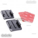 2 Pcs Curved Surface Mounts 3M Double sided Sticky Adhesive For Gopro Hero -GP11