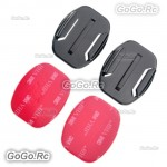 2 Pcs Flat Surface Mounts 3M Double sided Sticky Adhesive For Gopro Hero - GP12