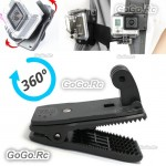 360° Rotary Backpack Hat Fast Clamp Clip Mount for GoPro Hero 2 3 3+ 4 - GP95