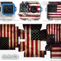US American Flag Sticker for Gopro accessory HD Hero 3 Camera housing Case GP125