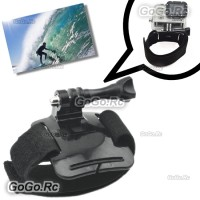 Wrist Band Velcro Strap Mount With Screw For GoPro Hero 4 3+/ 3 / 2/1 - GP26
