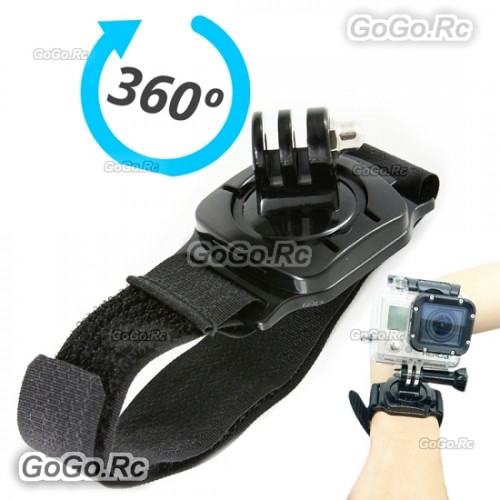 360° Degree Rotating Wrist Strap Mount Adapter for GoPro Hero 4 3+/3/2/1 - GP27