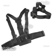 Chest Body Strap + Head Belt Strap For GoPro Hero 4 3+ 3 2 1 - GP41