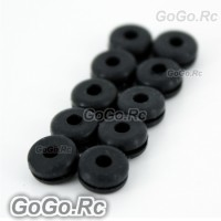 250 Canopy Nuts For Trex T-Rex Helicopter 10 Pcs - Black (S250004)
