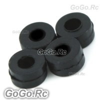 250 Damper Rubber / Black 80° For Trex T-Rex Helicopter (RH25038-01)