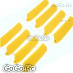 4 Sets Tail Rotor Blade For T-rex Trex 250 Helicopter - Yellow (RH25084-YY)