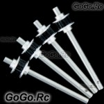 250 Metal Tail Rotor Shaft x4 for Trex T-Rex Helicopter - Black (RH25075BKx4)