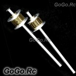 Metal Tail Rotor Shaft x2 for T-REX TREX 250 Heilcopter - Gold (RH25075GN)