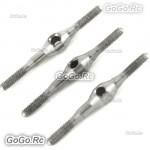 3Pcs 450 PRO Two-way fine adjustable servo linkage rod Tarot RC Heli RH45116-02