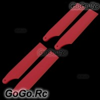 2-Set 450 PRO/ Sport V3 Tail Rotor Blade For Trex T-Rex Helicopter -Red RH45035-04x2