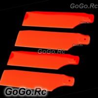 2 Set Tail Rotor Blade For Trex T-rex 450 PRO Sport V3 fluorescent Orange RH45035-06x2