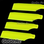 2 Set Tail Rotor Blade For Trex 450 PRO Sport V3 fluorescent Yellow RH45035-05x2