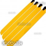 2 Pairs of 325mm Wood Main Blade For T-rex 450 Helicopter -Yellow (RHS1158-04x2)