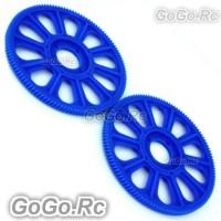 Tarot Blue Slant Thread Main Drive Gear 121T x2 For T-Rex Trex 450 (RH45156BU)