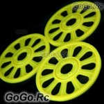3x Yellow Main Drive Gear for T-REX 450 SE V2 GF XL S Pro Sport (RH45155-02)