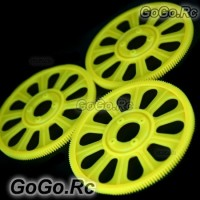 3x Yellow Main Drive Gear for T-REX 450 SE V2 GF XL S Pro​ Sport (RH45155-02)
