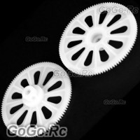 2 Pcs White Tail Drive Gear For T-Rex 450 Helicopter (RHS1220-02)