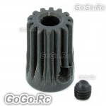2x 14T Φ3.17 - 450 Motor Pinion Gear For Trex T-Rex Helicopter - Black (RH055x2)