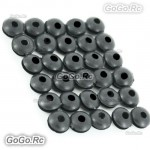 30 Pcs 450 Canopy Grommet Nuts for T-Rex 450 Helicopter Black (JHS1279B30)