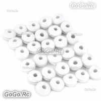 30 Pcs 450 Canopy Grommet Nuts for T-Rex 450 Helicopter White (JHS1279W30)