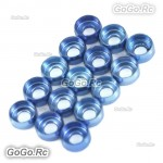 15 Pcs Frame Hardware Washers Body Gaskets Blue For ΦM2 Screws 450 - CHS1122A-BU
