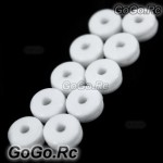 10 Pcs Silicone Canopy Nut For Align T-rex Trex 250 450 Helicopter White